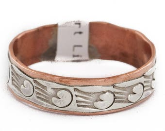 140 Retail Tag .925 Sterling Silver Pure Copper Handmade Rain Authentic Made by Robert Little Native American Ring  16979-18