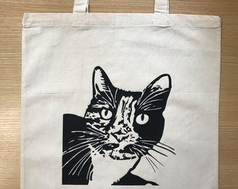 Personalised pet tote bag - a custom portrait of your pet on a tote bag/shopping bag. Custom pet art. The perfect pet lovers gift