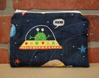 One Snack Sack, Reusable Lunch Bag, Waste-Free Lunch, Machine Washable, Space, Back to School, School Lunch, item #SS86