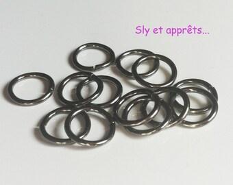 40 rings open 10mm black brass