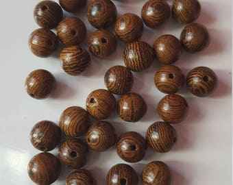 set of 200 wood beads 8mm