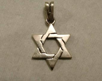 Vintage Sterling Silver Star of David Pendant