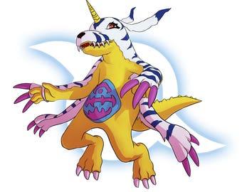 Digimon Digital Monsters - Gabumon 'Crest of Friendship' Digital FanArt Print, Original Print, Original Art Print, Digital Art Print