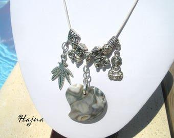 Long necklace/chain HAJUA gray Jasper