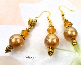 AZIZA PA41 oriental style gold/yellow set