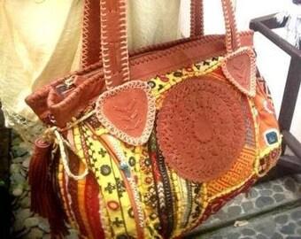 Anni Vintage Bag- Leather-Bags-Handmade Textl -