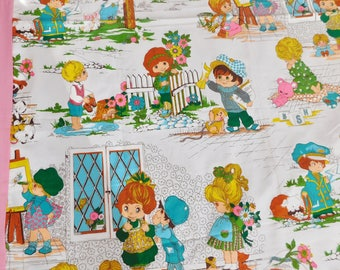 vintage Fabric Bedspread 82 x 50 inches