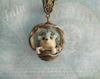Hedgehog, Pendant hedgehog, Jewelry hedgehog