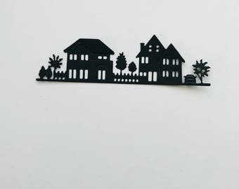 Winter Villiage  Die Cuts Set of 8
