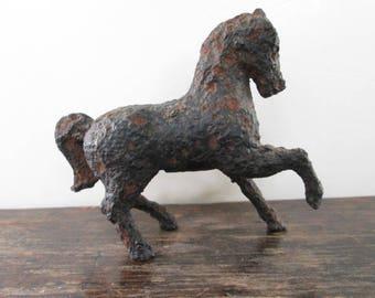 Old Metal Horse Still Bank