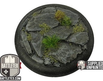 Large Rocky Stone Floor Detailed Wargaming Bases - Round Bases - 6x 38mm Warhammer war gaming - By Battletex