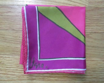 Vintage Vera Neumann Bold-Colored Square Scarf