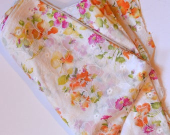 Watercolor floral print fabric