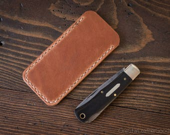 "Pocket knife slip case, size Large, for knives up to 4"" closed length (MADE-TO-ORDER)"