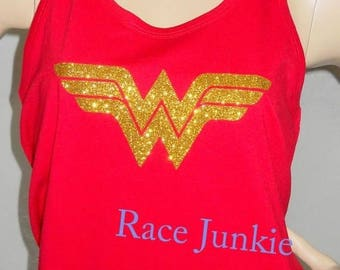 Christmas in July Sale WW Running Tank 100% Poly Performance Tank. Running tank, Princess Running. Racerback