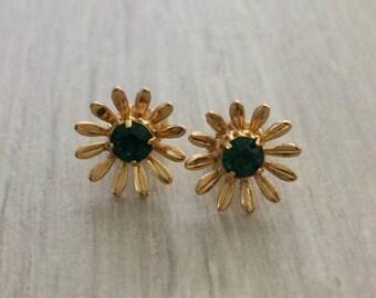 Rhinestone Flower Earring, Rhinestone Earrings, Studs, Bridesmaid Gift