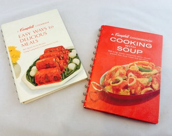 Vintage Campbell Cooking With Soup Cookbooks /Campbell Soup Cookbooks x 2
