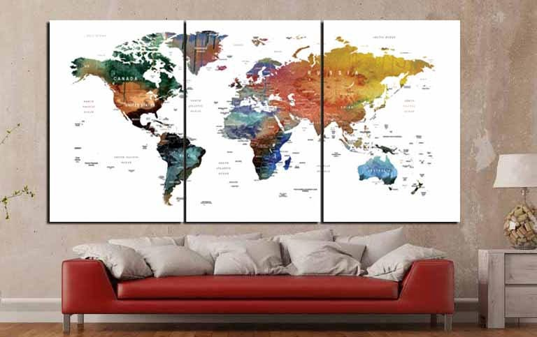 World map canvasworld map wall artworld map watercolorworld map world map canvasworld map wall artworld map watercolorworld map push pinlarge world mapworld map printtravel map large world map art sciox Images