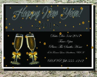Elegant New Year's Eve Party Invitation