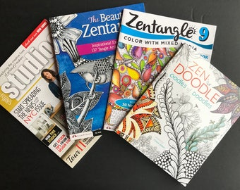4 Zentangle and Doodling Books, Great Gift