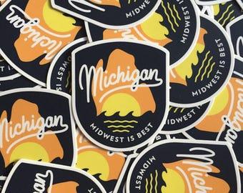 Michigan Sticker Midwest Is Best Vinyl Decal - Best vinyl decal stickers