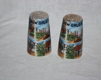 Vintage 1970s New Orleans Souviner Salt and Pepper Shakers