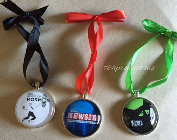 Newsies - Wicked - Broadway - Glass Dome Pendant Ornament