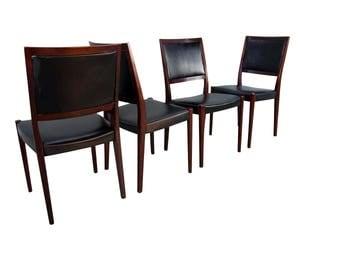 Svegards Markaryd Rosewood Dining Chairs Mid Century Modern