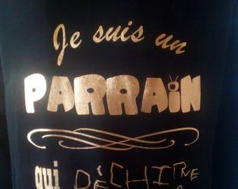 """Custom T-shirt """"I'm a godfather who rocks her race"""""""