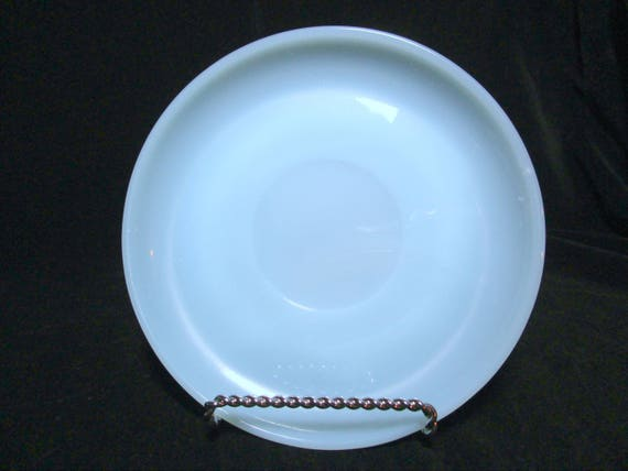 Fire King Saucer, Blue Turquoise,  Excellent Condition,  Mid Century Dinnerware (6 Avail)