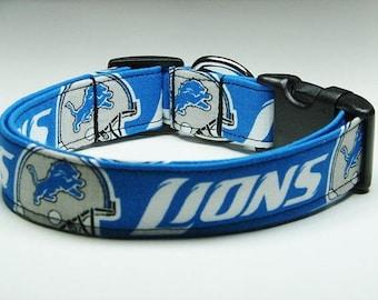 Detroit Lions Football Dog Collar