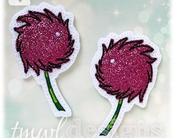 Red Clover A & B Felties - red, pink, green, white, black