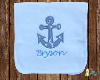 Monogrammed Burp Cloth, Personalized Baby Boy Burp Cloth, Appliquéd Burp Cloth, Baby Gift, Baby Name Burp Cloth, Baby Shower Gift