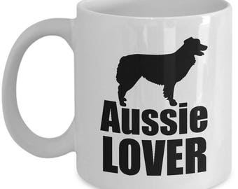 Aussie Coffee Mug - Aussie Lover - Australian Shepherd Mugs Dog Gift Love Gifts