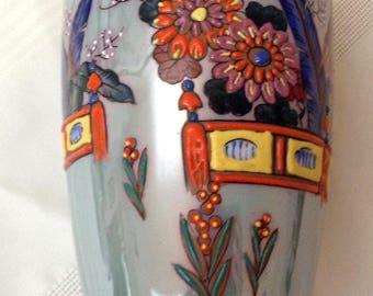 Vintage SEIEI & CO Art Deco Lusterware Vase 1930s Japanese/