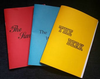 Three zine pack: The Summer, The Wreckage + The Berk