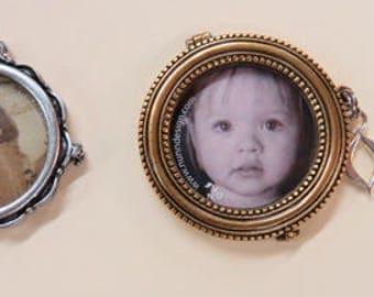 Lockets 3 Types - Nunn Scalloped Silver Locket - Nunn Beaded Large Gold Locket - Small Vintage Gold Locket