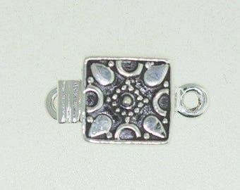 Sterling Silver Box Clasp, 92.5 % Silver Box clasp, Silver clasp, Box Clasp, Square shape box clasp.