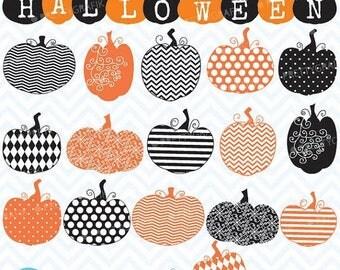 80% OFF SALE pumpkin jack o lantern clipart, commercial use, vector graphics, digital clip art, digital images - CL565