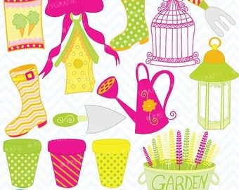 80% OFF SALE outdoor garden clipart commercial use, vector graphics, digital clip art, digital images  - CL309