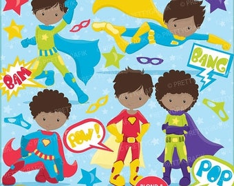 80% OFF SALE Superhero clipart commercial use, vector graphics, digital clip art, digital images - CL675