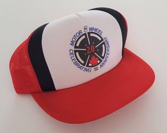 Vintage Motor Wheel 20th Anniversary '86 Snapback Hat VTG