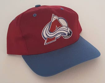 Vintage Colorado Avalanche Twins Snapback Hat NHL VTG