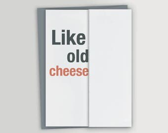 Old Cheese - Funny Birthday Card