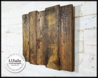 Rustic Pallet Wall Art. Pallet Sign. Rustic Shabby Chic Home Decor. Pallet  Art