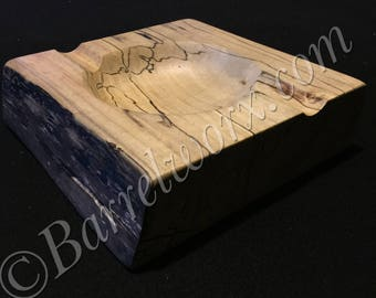Live edge spalted maple cigar ashtray