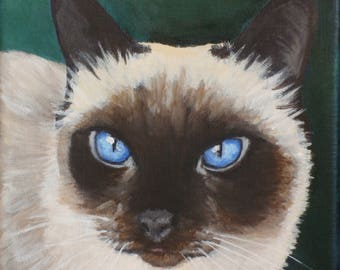 """Custom Painting of YOUR pet 6""""x6"""""""
