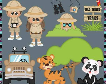 On Safari 2017, Outback, Animals - Instant Download - Commercial Use Digital Clipart Elements Graphics Set