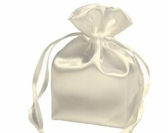 Large Ivory Satin Gift Bag