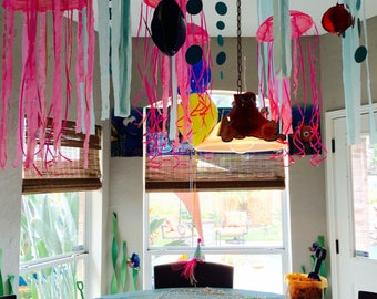 Set of 6 Jellyfish Party hangers